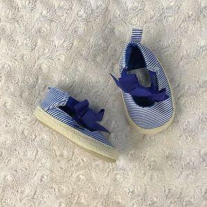 Carter's Blue White Stripe Espadrille Sandals NB
